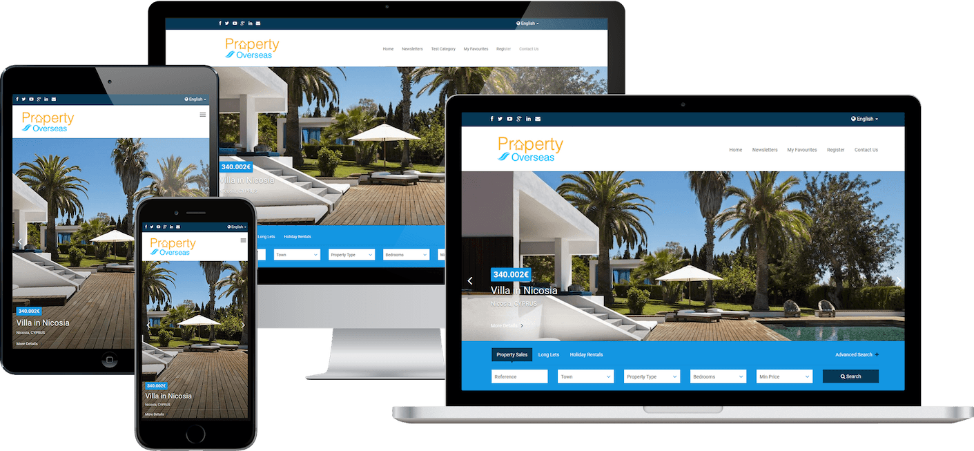 Real Estate Agent Websites for Property Sales, Rentals and Holiday Lettings.